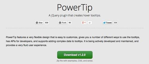 Javascript plugin PowerTip