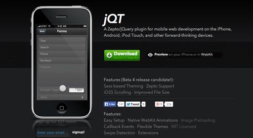 JQuery Framework JQ Touch
