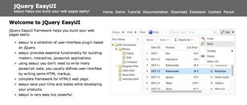 JQuery Framework para desarrollo de interfaz de usuario JQueryEasyUi