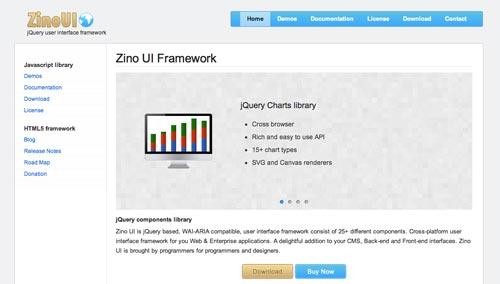 JQuery Framework para desarrollo de interfaz de usuario ZinoUI