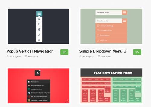 Generador de menu CSS3: Pixels Daily