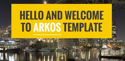 Plantillas HTML inspiradas en el Flat Design:  Arkos