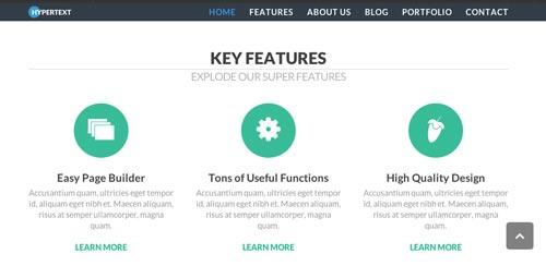 Plantillas HTML inspiradas en el Flat Design:  Hypertext