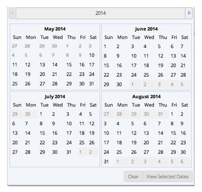 Javascript plugin Responsive Calendar Component