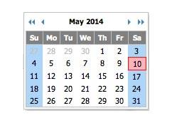 Javascript plugin Tigra Calendar