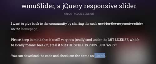 Javascript plugin wmuSlider