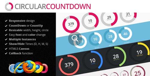 Plugin JQuery para añadir relojes con cuenta regresiva Circular Countdown