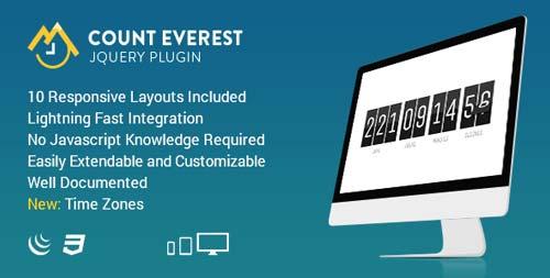 Plugin JQuery para añadir relojes con cuenta regresiva Count Everest