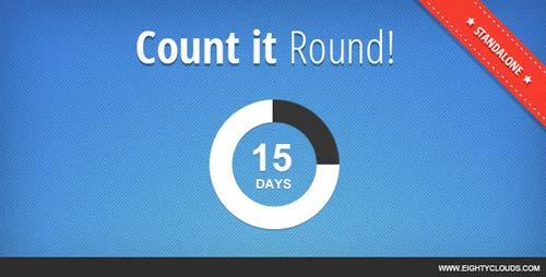 Plugin JQuery para añadir relojes con cuenta regresiva Count it Round!
