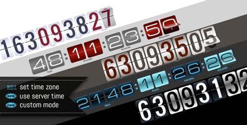 Plugin JQuery para añadir relojes con cuenta regresiva Responsive Countdown Pro with Builder