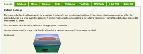Plugin JQuery para rotar imágenes JQuery Image Cube