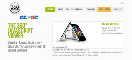 Plugin JQuery para rotar imágenes The 360º Javascript Viewer