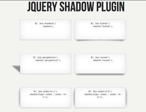 Plugin JQuery Shadow