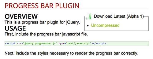Plugin JQuery Progress Bar