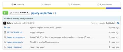 Plugin JQuery para añadir ventanas modales JQuery Superbox