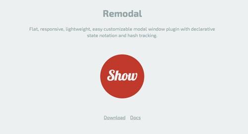 Plugin JQuery para añadir ventanas modales Remodal