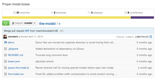 Plugin JQuery para añadir ventanas modales The Modal