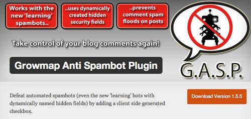 Plugin WordPress Growmap Anti Spambot