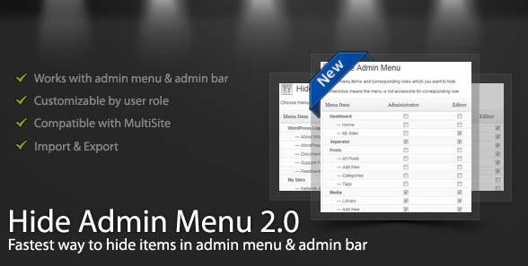 Plugin WordPress Hide Admin Menu