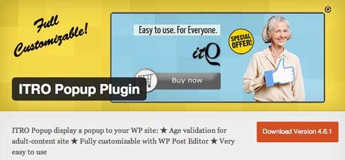 Plugin WordPress para crear ventanas emergentes ITRO Popup