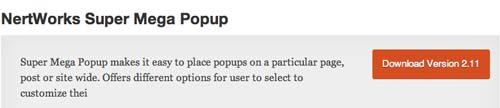 Plugin WordPress para crear ventanas emergentes Nertworks Super Mega Popup