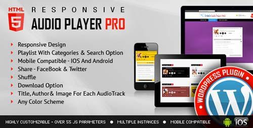 Plugin WordPress para incorporar reproductor multimedia: Responsive HTML5 Audio Player Pro