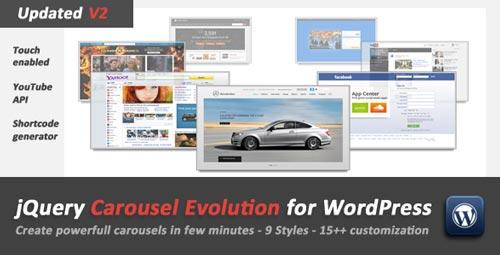 Plugin WordPress JQuery Carousel Evolution