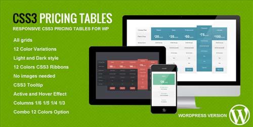 Plugin WordPress para incorporar tablas de precio CSS3 Responsive Pricing Tables for WP