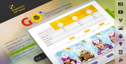 Plugin WordPress para incorporar tablas de precio Go