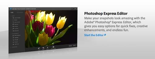 Programa editor de fotos online: Photoshop Express