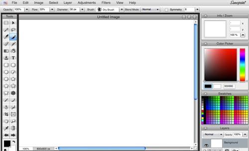 Programa editor de fotos online: Sumopaint