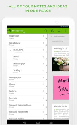 Programas para Android gratuitos para bloggers: Evernote