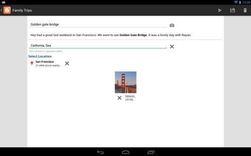 Programas para Android gratuitos para bloggers: Blogger
