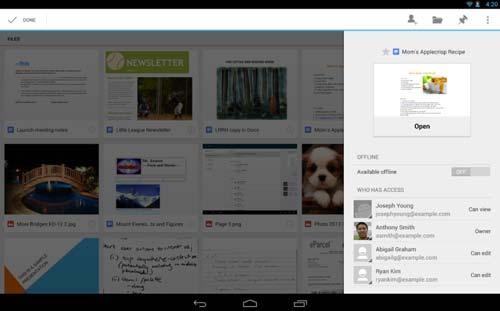 Programas para Android gratuitos para bloggers: Google Drive