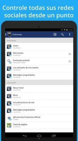 Programas para Android gratuitos para bloggers: Hootsuite