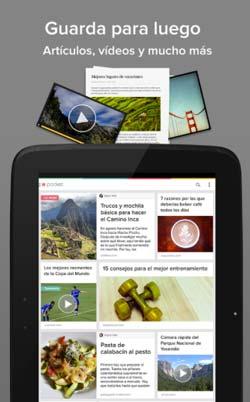 Programas para Android gratuitos para bloggers: Pocket