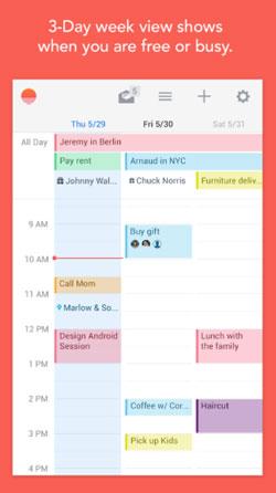 Programas para Android gratuitos para bloggers: Sunrise Calendar