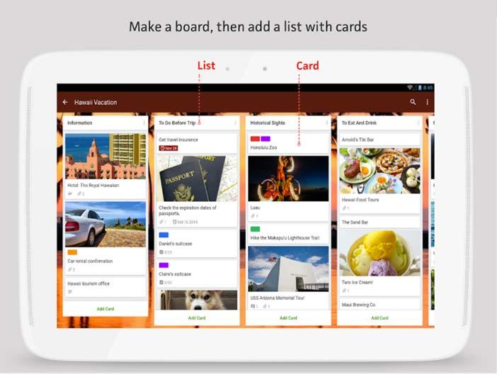 Programas para Android gratuitos para bloggers: Trello