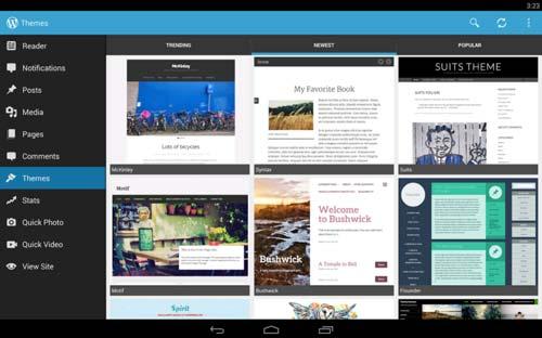 Programas para Android gratuitos para bloggers: WordPress