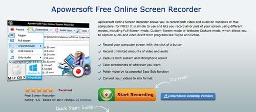 Programas para Mac para grabaciones de pantalla: Apowersoft Free Screen Recorder