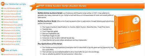 Script PHP para subastas Softbiz Online Auction