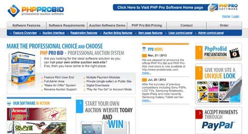 Script PHP para subastas PHP ProBid
