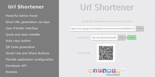 PHP Script para generar enlaces URL Shortener
