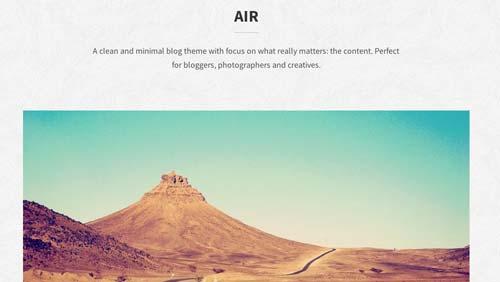 Temas WordPress para blogs: Air