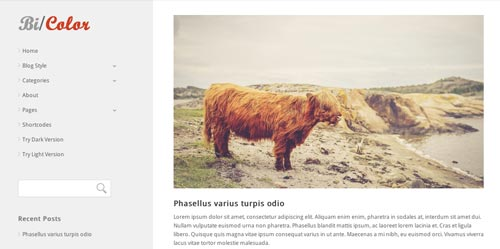 Temas WordPress para blogs: Bicolor