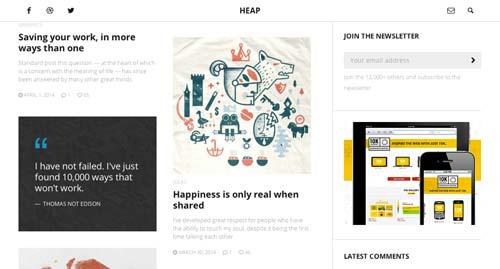 Temas WordPress para blogs: Heap