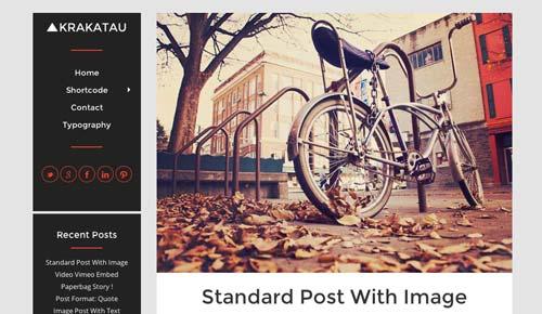 Temas WordPress para blogs: Krakatau