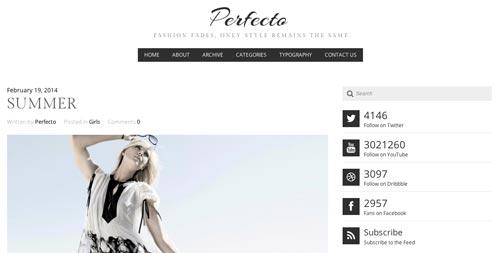 Temas WordPress para blogs: Perfecto