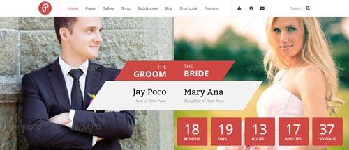 Temas WordPress para bodas Pump