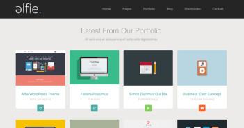 Temas Wordpress con aplicación del Flat Design Alfie